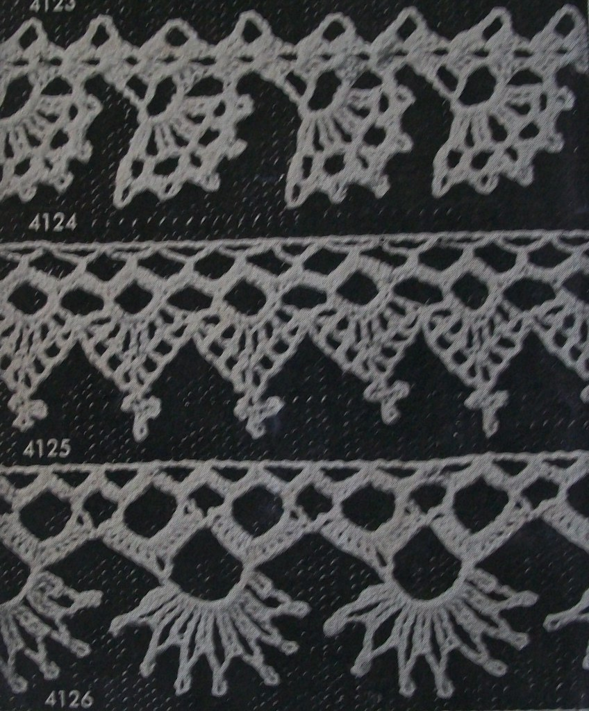 The worlds best photos of edging and tatting flickr hive mind crocheted edgings from 1946 acadian crochet tags vintage knitting needlework lace crochet etsy bankloansurffo Gallery