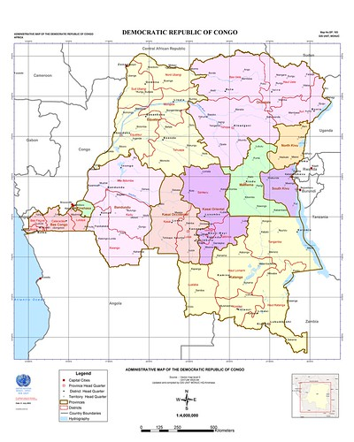 Administrative map of DRCongo