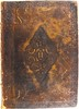 Frontbinding of first edition of The Faerie Queene held by Special Collections.