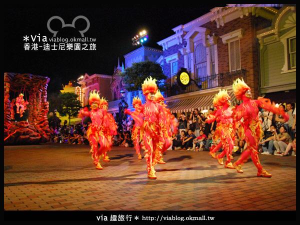 【香港旅遊】跟著via玩香港(2)~迪士尼萬聖節夜間遊行超精彩!15