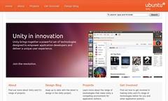 Ubuntu Unity home page