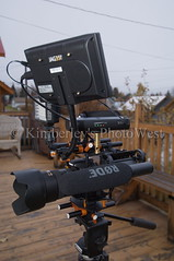 New HD-DSLR Rig (Photo West) Tags: canon nikon portable monitor rode 1755f28 t2i litepanels jag35 videorig