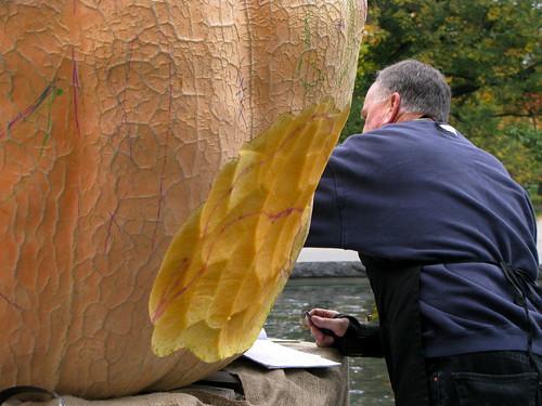 The Giant Pumpkin Carving Begins!