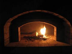 A first fire (mereshadow) Tags: brick out oven hearth cob amen finally drying finishing brickoven greenvilleillinois firstfire woodfiredoven pietyhillbakery