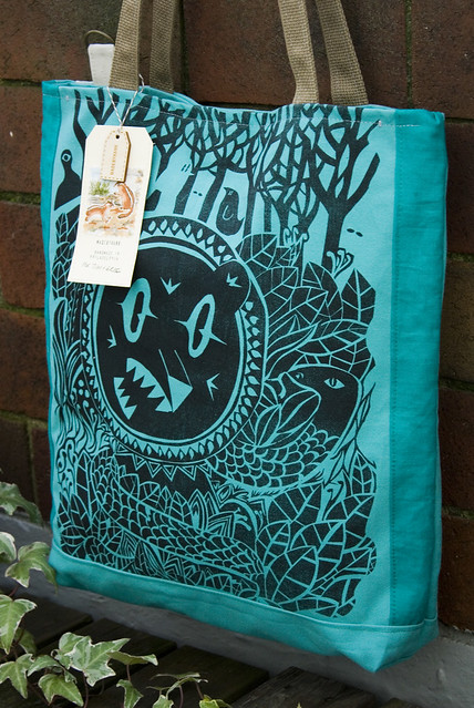 indestructible life tote, collaboration with tim gough and greg pizzoli