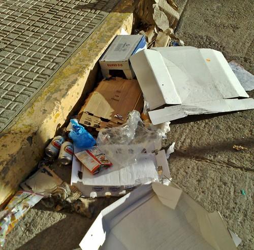 Foto denuncia de Uno de Melilla
