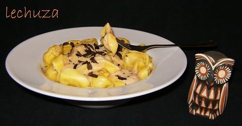 Tortelinis con foie-plato