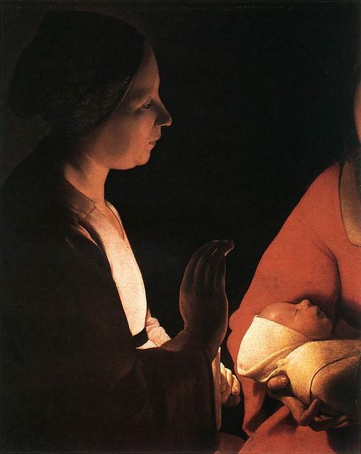 O Nascimento detalhe - Musée des Beaux-Arts, Rennes