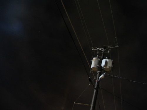 Electric Pole by Night