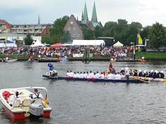 Drachenbootrennen auf der Trave (travellers best shots) Tags: marienkirche lbeck drachenbootrennen trave