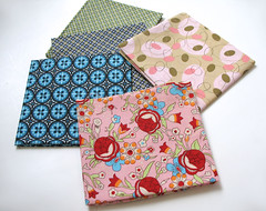 - Lovely FQ's-  from Erin (Warm 'n Fuzzy) Tags: textile fabric swap supplies materials fabrics fatquarters privateswap