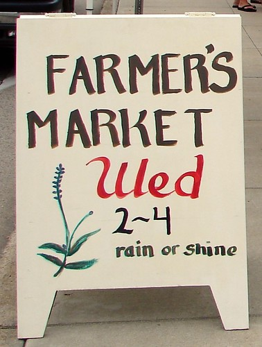 Johnsonburg Farmer's Market sign