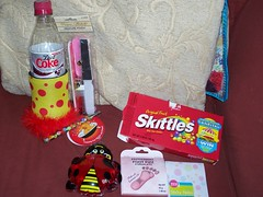 gifts (tazzy kitten) Tags: set pen foot notes sticky can ladybird pedicure skittles peppermint holder fizz