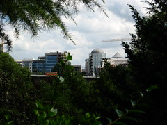 Luxembourg Ville from the park