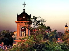 (Emilofero) Tags: city sunset tower church europe bell kirche bulgaria eglise oldcity plovdiv bulgarie balcans excellentphotographerawards thatsclassy