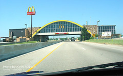 McDonalds over I-44, 17 May 2005 (photography.by.ROEVER) Tags: 2005 oklahoma may mcdonalds interstate glasshouse 1000views vinita i44 2000views 5000views 3000views 4000views 6000views interstate44 7000views overhighway willrogersturnpike driverpic rogersturnpike