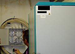 Boîtier connexion et armoire équipements actifs