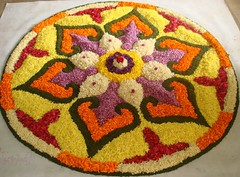 Floral art-Pookalam-Kerala-india-8 (Arun Kumar Sinha) Tags: flowers blue red orange india white green art floral coral petals colours purple kerala utata nikonstunninggallery colourartaward