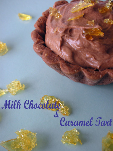 milk chocolate and caramel tarts