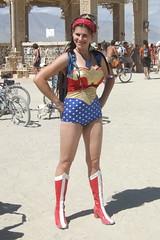 Wonder Woman @ Burning Man 2007 (kriegsman) Tags: hot amazon boots burningman wonderwoman superhero hottie dianaprince superheroine burningman2007