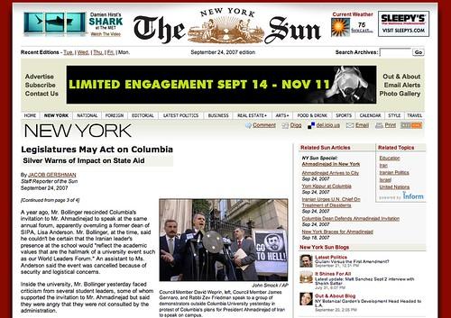 NY Sun Article