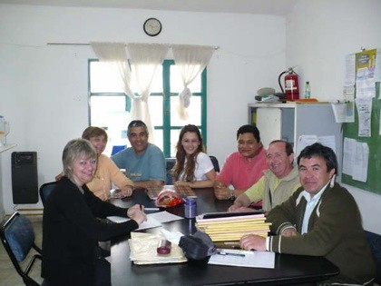 Delegacion de la Fiesta Nac. del Mani con Integrantes del I.P.E.M. Nº 80 'Luis Federico Leloir'