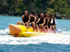people water philippines boracay bananaboat