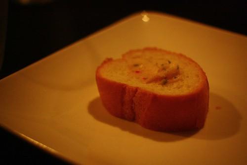 烤法國麵包塗香料奶油
