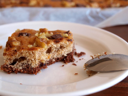 Chocolate Bottom Banana Squares