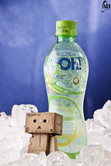Refreshment !! (Abdulkreem Al-delaigan | ) Tags: life canon toy photography still flickr stilllive 2010 danbo  canonef2470mmf28l  canoneos50d danboard 2oh  abdulkreemaldelaigan