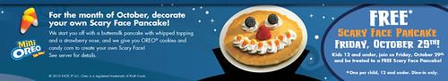 Free Scary Pumpkin Pancake