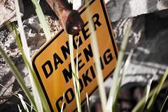 Danger, Men Cooking