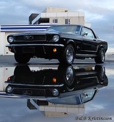 Ford Mustang 66 (B&B Kristinsson) Tags: reflection ford water iceland classiccar mustang fordmustang americancar hafnafjrur flickraward fornblaklbburslands fornblaklbburinn