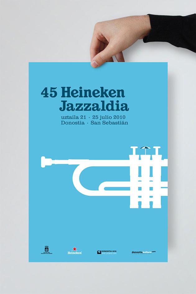 Poster para el Heineken Jazzaldia · La Caja de Tipos