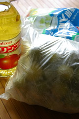 梅シロップの材料。梅は冷凍