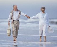 Retirement beach scene