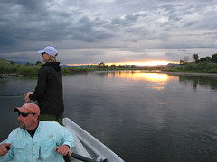 Longest day of the year 6/21 (bugeaters) Tags: sunset water frank boat fishing montana row fword flyfishing trout float bastard ro tranquil glassy drift angler 4rivers
