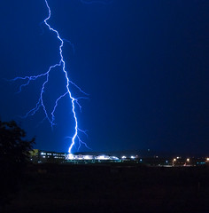 Lightning Storm III vs Lowes Home Improvement (iceman9294) Tags: weather night evening nikon bravo colorado searchthebest professional coloradosprings lightning lowes meteorology chriscoleman rightplacerighttime naturesfinest 500x500 supershot magicdonkey d80 abigfave superaplus aplusphoto superbmasterpiece stormtracker iceman9294 christopherturnerphotography 14secf19 18200vronmanfrottotripod turnvroffwhenontripod world100f