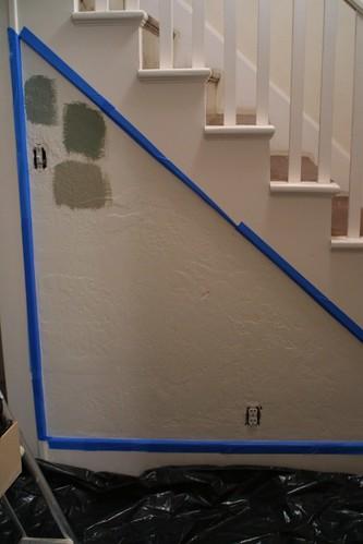 Hallway/Stairway before paint