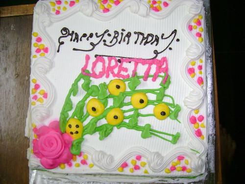 loretta b.day cake