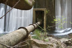 dam wall and water pipe