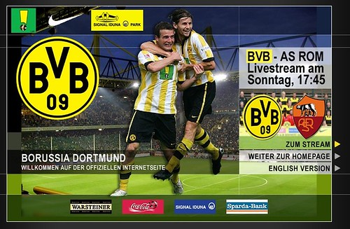"Screenshot ""www.bvb.de"" (Borussia Dortmund)"