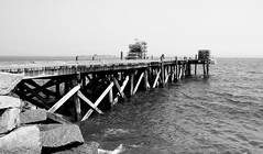 Lobster Vacation Ends Here (willvaughan) Tags: blackandwhite bw pier dock yum maine august parade lobster 2007 lobsterfestival deathtraps ohnoes1 mainerocklandlobsterfestival2007