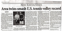 New Haven Register, August 20, 2007 (Rossetti Brothers Tennis) Tags: rally tennis longest