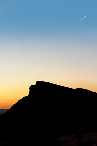 A Walk on the Crags at Sunset