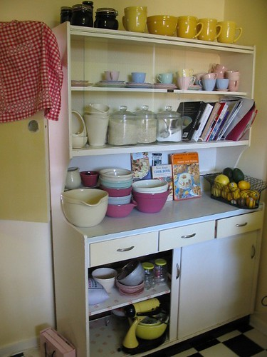 I Op Therefore I Am The Score Vintage Yellow Kitchen Dresser