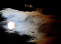 Moon Wolf (lowbattery) Tags: sky moon night clouds milk haze cream aplusphoto