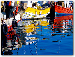Fishing boats at Volos (Pilion, Greece) (jesssie) Tags: reflection reflections boat fishing dock bravo artistic harbour expression greece fishingboats reflexions pelion reflejos goldenglobe artisticexpression pilion thessaly   thessalia  25faves  colorphotoaward aplusphoto superhearts  photofaceoffwinner colourartaward platinumheartaward   top20vivid     volosmarina