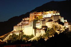 Potala (Michael Bollino) Tags: travel light yak white tibetans building architecture night asia religion culture tibet hills dalailama worldculture supershot worldphotodoc2007