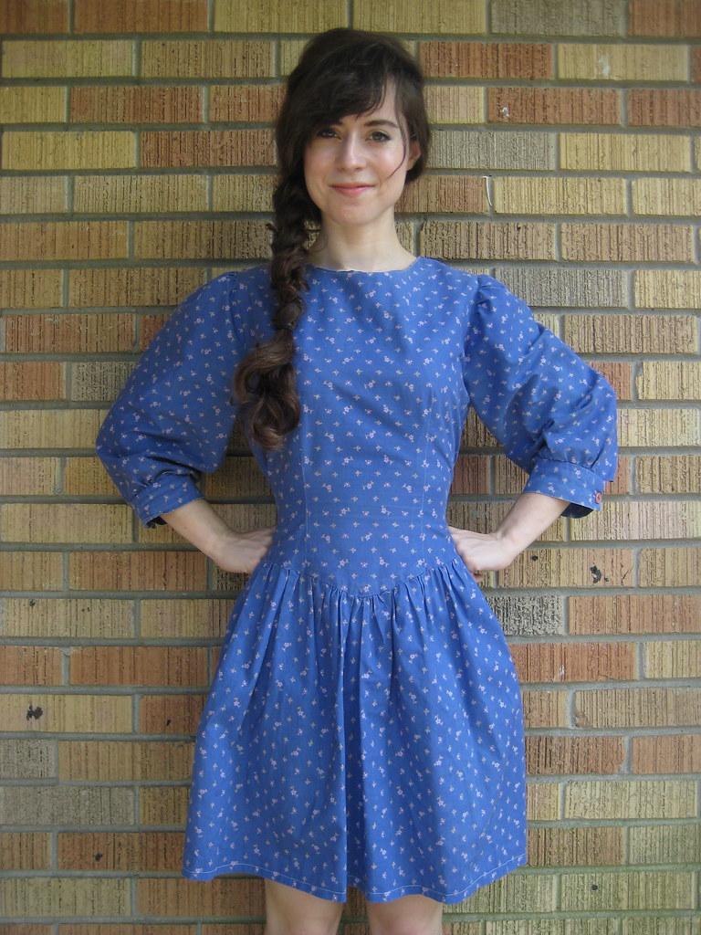 vintage liberty print floral dress
